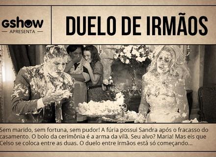 Fotonovela: Sandra e Celso travam guerra de bolo!