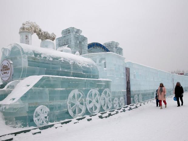 Festival tem trem em tamanho real (Foto: Reuters)