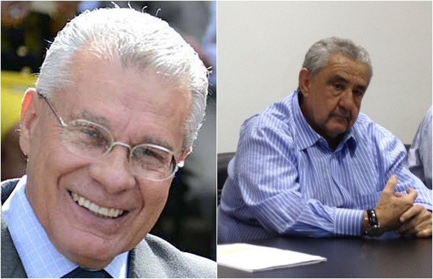 Afrêni Gonçalves, presidente do PSDB-GO, e José Taveira, presidente da Saneago (Foto: Reprodução)