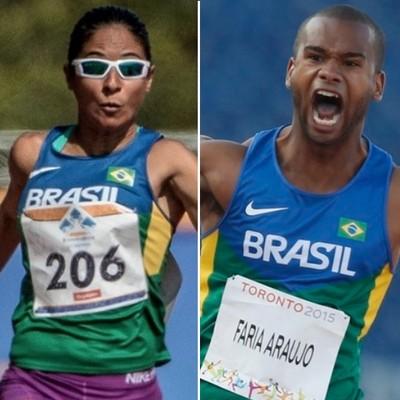 Jerusa dos Santos e Gustavo Henrique, paratletas de Prudente, Rio 2016, Paralimpíada (Foto: Editoria de Arte)