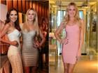 Fiorella Mattheis usa vestidos quase idênticos dois dias consecutivos