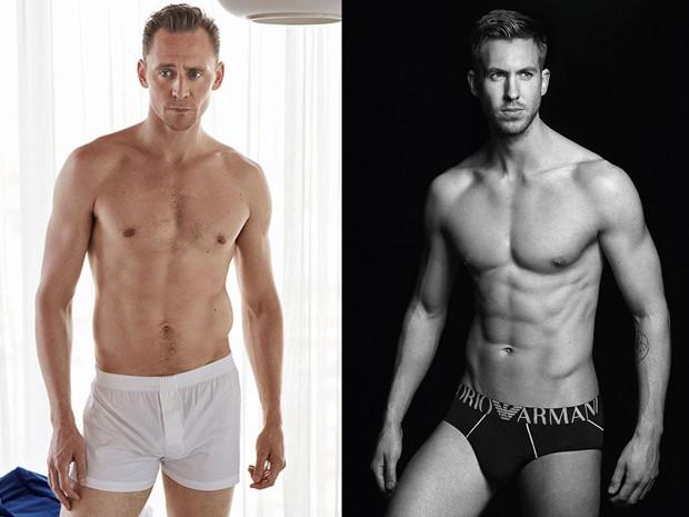 Tom Hiddleston e Calvin Harris (Foto: Reprodução)