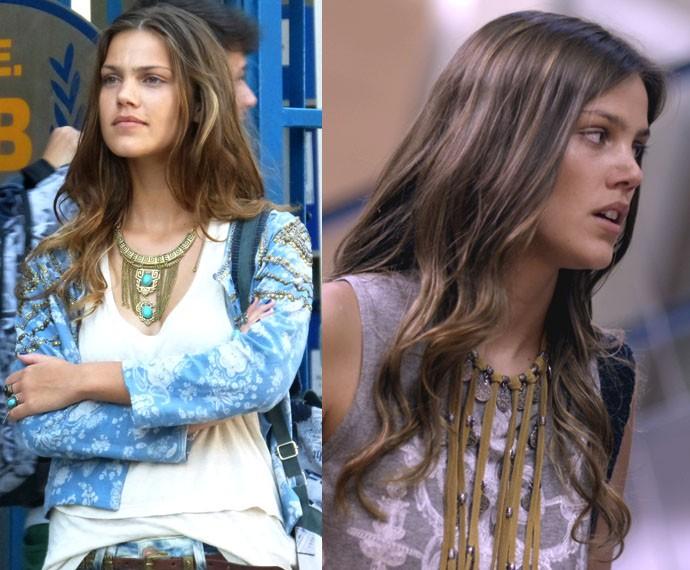Alina fica poderosa com o acessório baphônico (Foto: Gshow/TV Globo)
