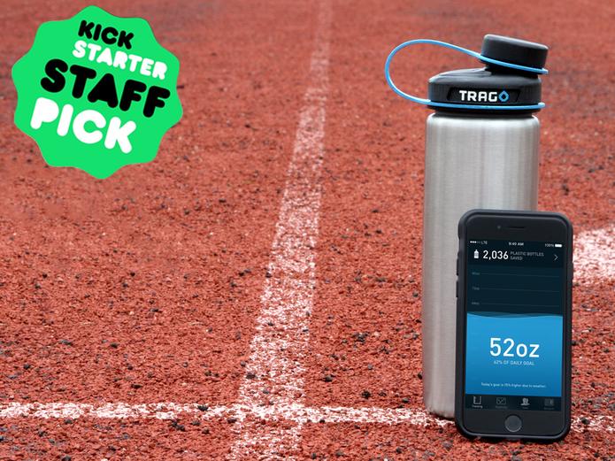 Garrafa smart te ajuda a ficar sempre hidratado (Foto: Reprodução/Kickstarter)