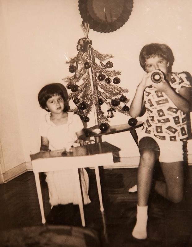 Adriane e o irmão (Foto: Reprodução)