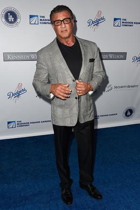 Sylvester Stallone em evento beneficente em Los Angeles, nos Estados Unidos (Foto: Frazer Harrison/ Getty Images/ AFP)