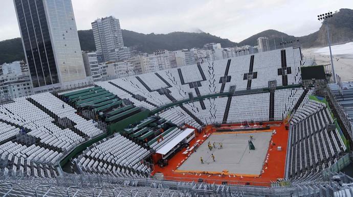 Arena de vôlei de praia Jogos Olímpicos Rio de Janeiro Copacabana (Foto: REUTERS / Ivan Alvarado)