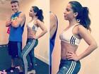 De top, Anitta exibe barriga chapada após malhação