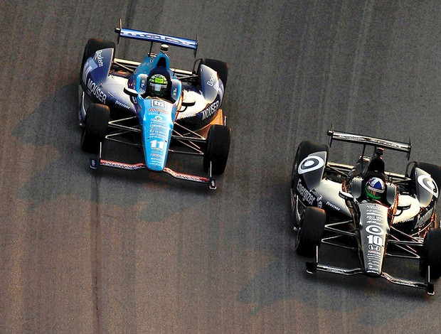 Tony Kanaan e Dario Franchitti na prova da Indy (Foto: Getty Images)