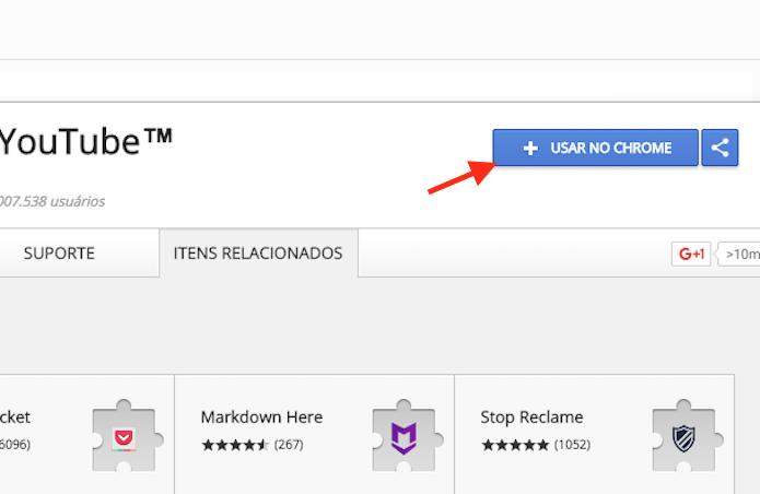 Opção para preparar o download da extensão Magic Actions for YouTube (Foto: Reprodução/Marvin Costa)