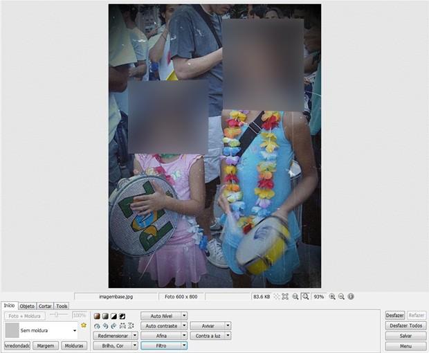 """Foto após aplicação do filtro """"Foto antiga"""" número 7 (Foto: Reprodução/Raquel Freire)"""