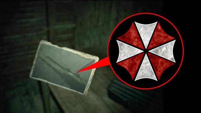 Resident Evil 7 exibe uma pequena ligação com a Umbrella, empresa vilã da série (Foto: Reprodução/DTG Reviews)