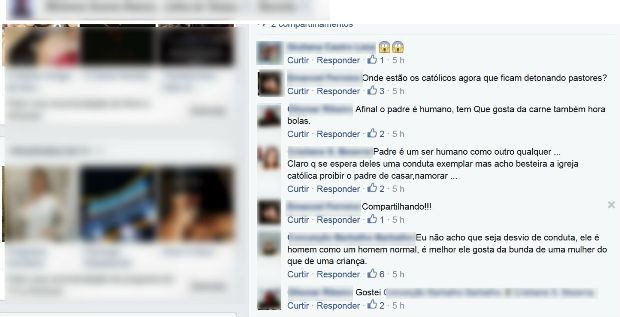 Internautas fizeram comentários sobre foto (Foto: Reprodução/Facebook)