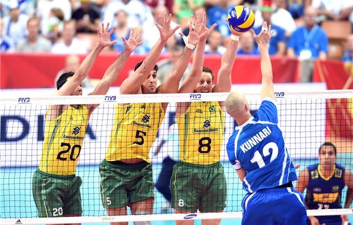 Brasil X Finlândia - Mundial de vôlei (Foto: Divulgação / FIVB)