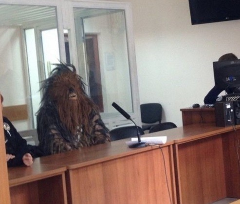 O detido foi a tribunal de Odessa ainda vestido do personagem de 'Star Wars'