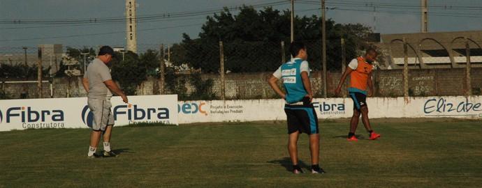 Treino, Botafogo-PB, Vilar (Foto: Pedro Alves / GloboEsporte.com/pb)