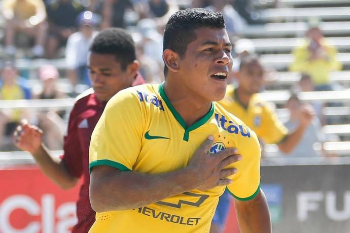 Datinha - maranhense brilha na seleção brasileira de futebol de areia (Foto: Divulgalção / Seleção Brasileira)
