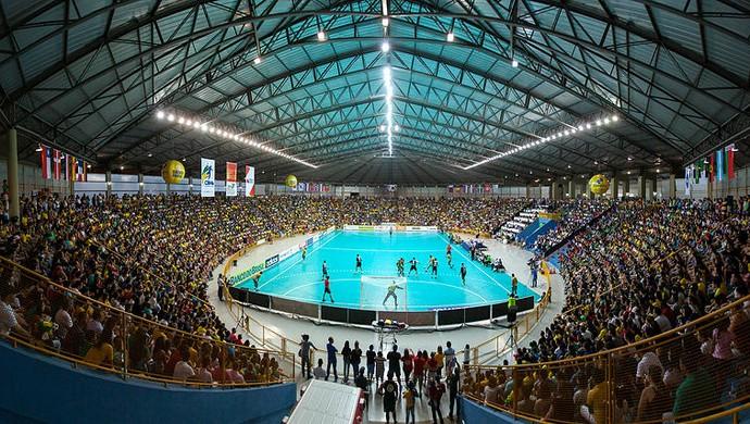 Uberaba lotou o Centro Olímpico para acompanhar a seleção (Foto: Alexandre Mota)