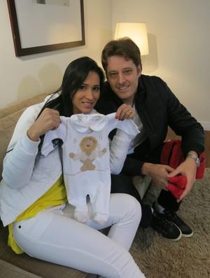Jaqueline Murilo gravidez vôlei (Foto: João Gabriel Rodrigues)