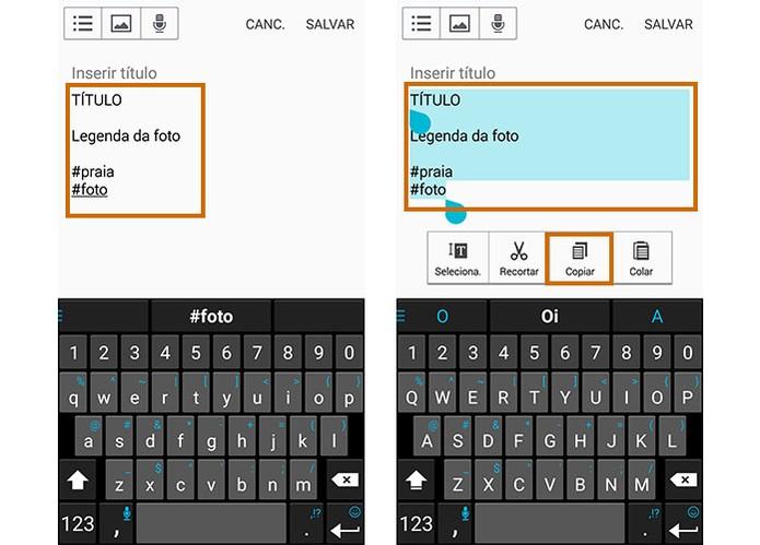 Acesse o app de notas no celular e monte seu texto como preferir (Foto: Reprodução/Barbara Mannara)
