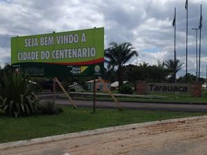 Entrada Tarauacá (Foto: Duaine Rodrigues/G1)