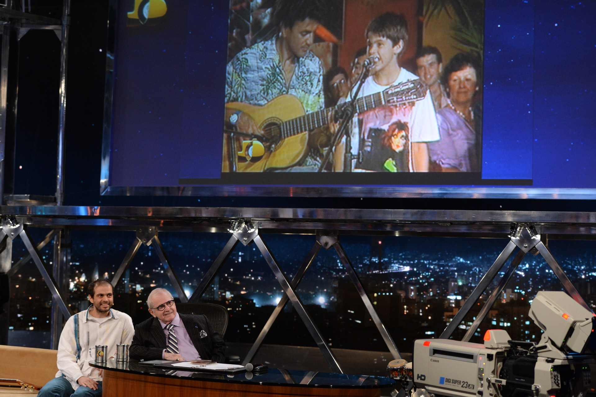 Moreno Veloso e Jô Soares (Foto: Globo/Zé Paulo Cardeal)