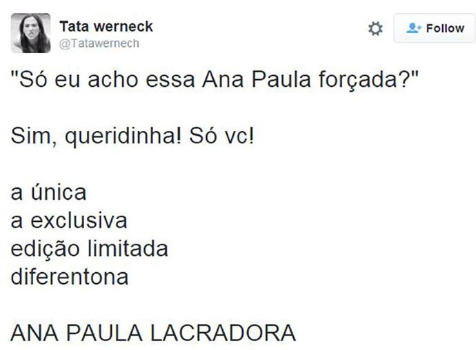 post ana paula lacradora (Foto: Reprodução Internet)