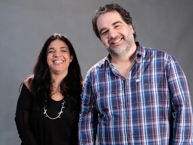 Filipe Miguez e Izabel de Oliveira, autores de G3R4Ç4O BR4S1L (Foto: Felipe Monteiro / TV Globo)