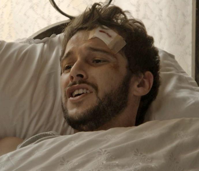 Giovanni fica assustado com a atitude da ex (Foto: TV Globo)