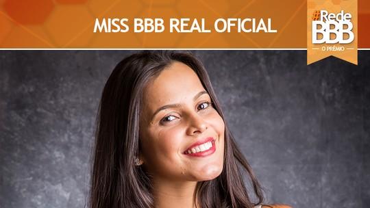 Emilly vence o Prêmio Miss BBB Real Oficial #RedeBBB