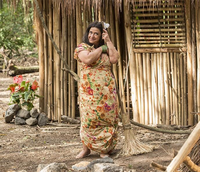 Teodora traça plano para trazer Tarzan de volta (Foto: Felipe Monteiro/Gshow)