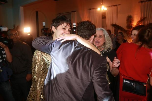 Vera Holtz, Daniel Oliveira e Sophie Charlotte em festa o Rio (Foto: Ricardo Leal e Claudio Andrade/ Foto Rio News)