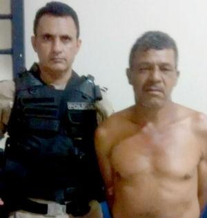 Homem é preso suspeito de matar mulher em Acreúna (Foto: Divulgação/PM TO)