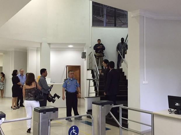 PRF esteve na Assembleia Legislativa de Roraima na manhã desta quinta-feira (15) (Foto: Inaê Brandão/G1 RR)