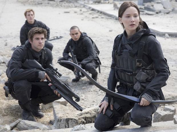 Jennifer Lawrence no filme que marca o final da saga 'Jogos Vorazes' (Foto: Divulgação/Paris Filmes)