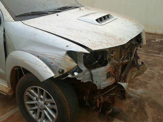 Veículo usado pelo motorista era roubado de Iturama, SP (Foto: Reprodução / Site VotuNews)
