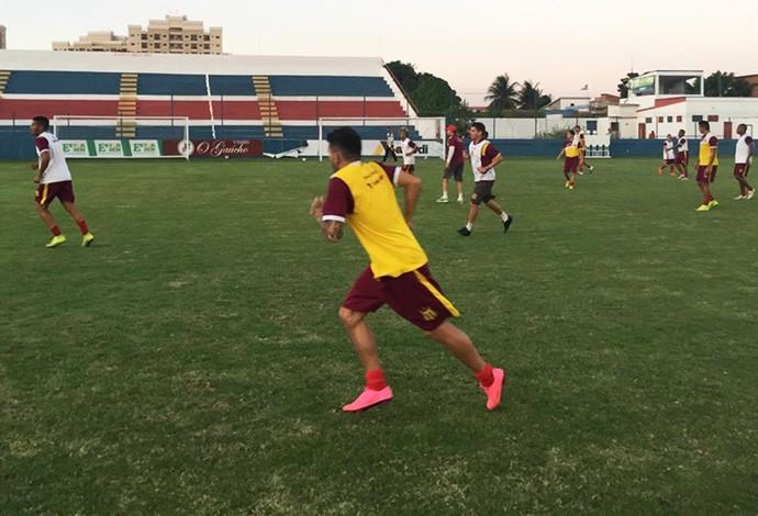 Pensando no Ceará, Sampaio Corrêa realizou último treinamento no CT do Fortaleza (Foto: Sampaio Corrêa / Divulgação)