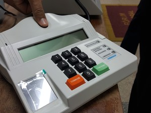 Justiça eleitoral testará o reconhecimento biométrico em Ji-Paraná (Foto: Pâmela Fernandes/G1)