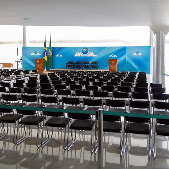Sala vazia onde a deputada Cristiane Brasil tomaria posse  (Foto: WALTERSON ROSA/FRAMEPHOTO/FRAMEPHOTO/ESTADÃO CONTEÚDO )