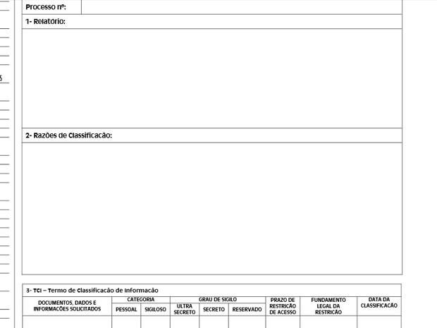 Caberá a autoridade civil ou militar analisar pedido de informação e determinar se ela é sigilosa ou não (Foto: Reprodução / Diário Oficial do Estado de São Paulo)