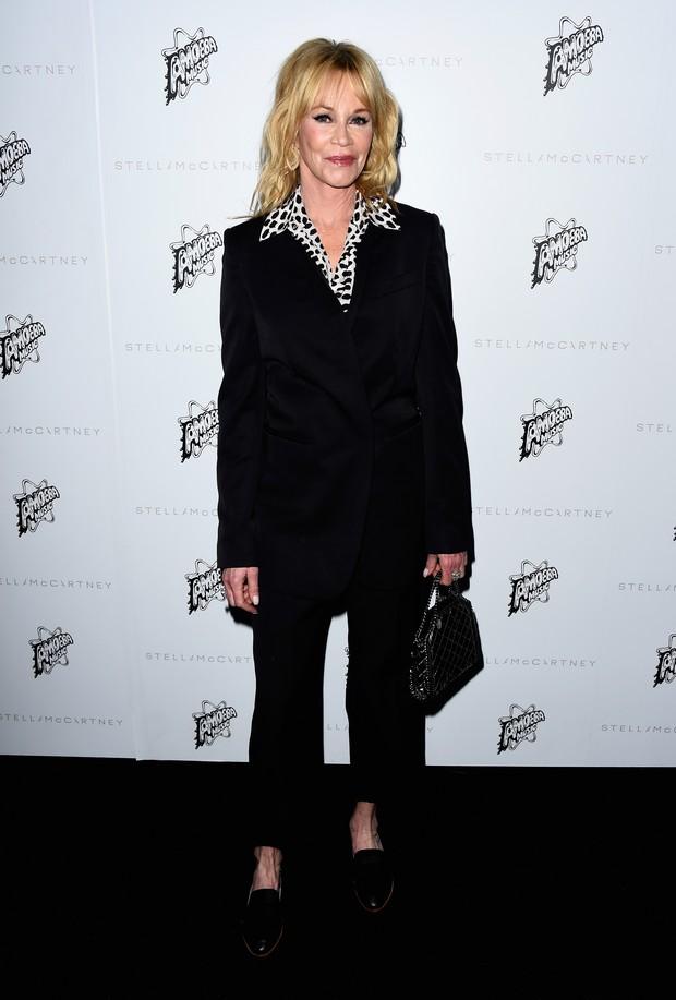 Melanie Griffith em evento de moda em Los Angeles, nos Estados Unidos (Foto: Frazer Harrison/ Getty Images/ AFP)