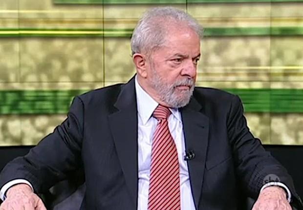 O ex-presidente Luiz Inácio Lula da Silva em entrevista ao SBT Brasil (Foto: Reprodução/SBT)