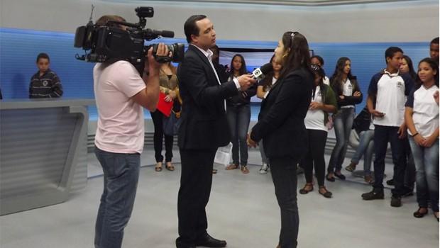 Projeto recebeu alunos classificados nas sedes da EPTV (Foto: Divulgação)