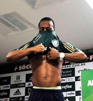 Apresentação Arouca Palmeiras (Foto: Marcos Ribolli)
