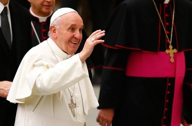 Pontífice disse que os smartphones deveriam ser banidos dos jantares (Foto: Tony Gentile/Reuters)