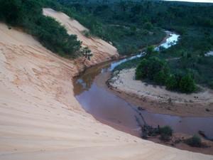 Região do Jalapão, onde surgiu o artesanato do capim dourado (Foto: Sydney Neto/TV Anhanguera )