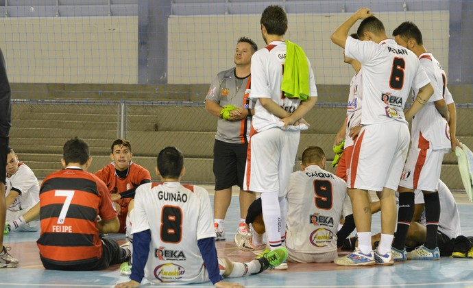 Treino Grêmio Mogiano Futsal (Foto: Cairo Oliveira)