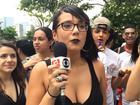 Demi Lovato faz show para vips no terraço de shopping em São Paulo