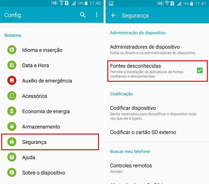 Autorize a instalação de apps de fora da Google Play (Foto: Reprodução/Aline Batista)