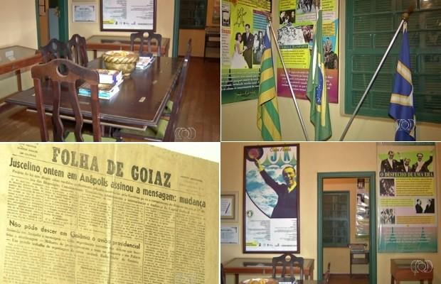 Memorial Casa JK em Anápolis, Goiás (Foto: Reprodução/TV Anhanguera)